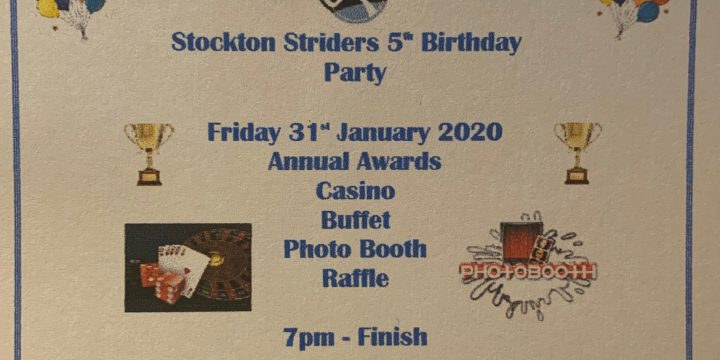 Striders 5th Birthday Party